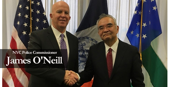 Ambassador Kanji Yamanouchi visited to New York City Police Department